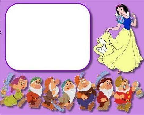 invitaciones cumpleanos princesas disney blancanieves enanitos