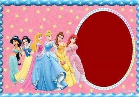 invitaciones cumpleanos princesas disney todas