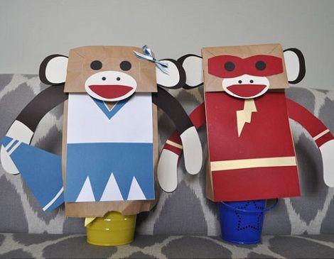 marionetas monos detalle