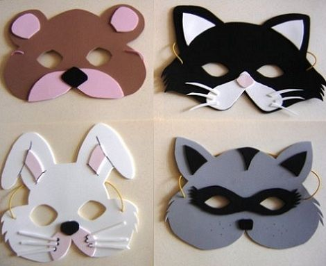 mascaras foam animales2