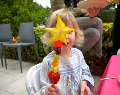 merienda niños frutas