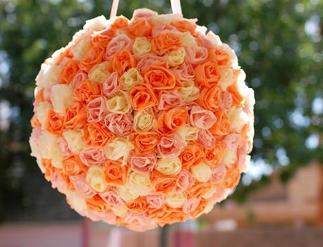 Piñata de rosas