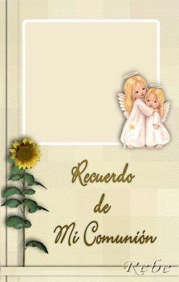 5 invitaciones comunion angeles