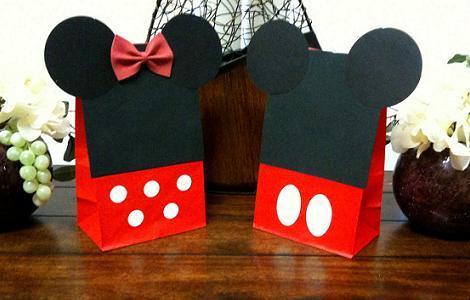 bolsas de regalo de Mickey y Minnie