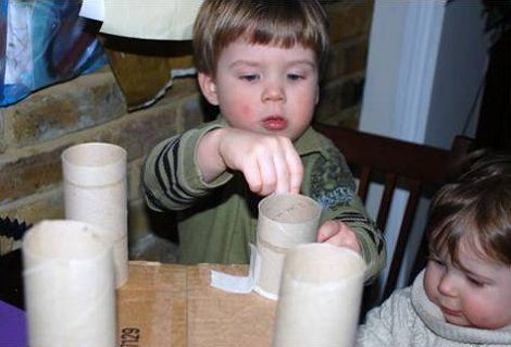 castillo rollos de pepel caja