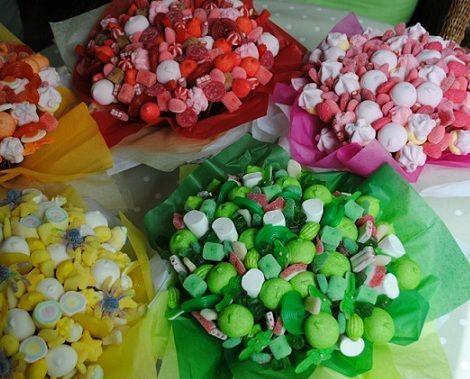 centros de mesa infantiles chuches colores