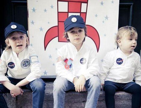 cumpleanos astronautas disfraces