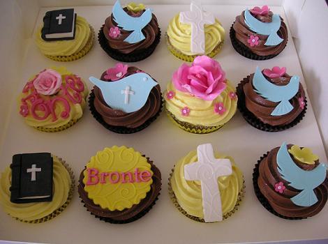 Cupcakes modernos de Comunión