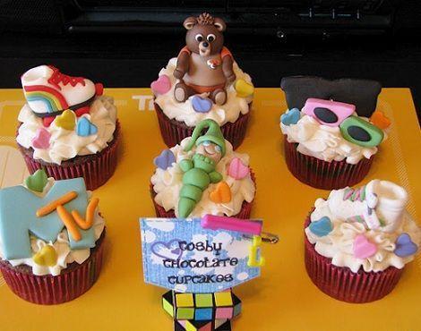 fiesta anos 80 cupcakes
