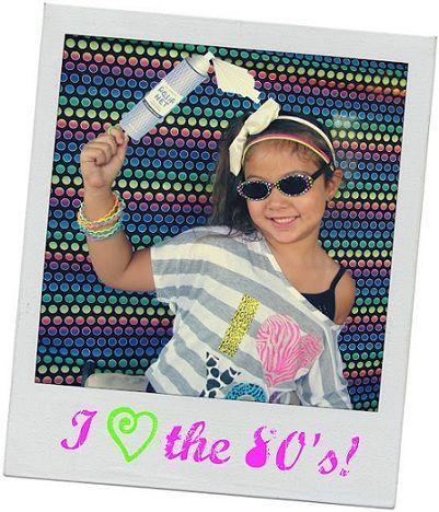 fiesta anos 80 nina