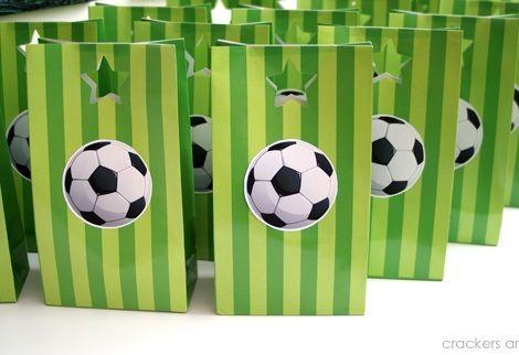 fiesta cumpleanos futbol bolsas