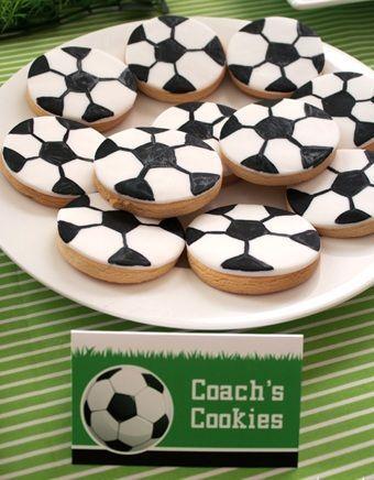 fiesta cumpleanos futbol cookies