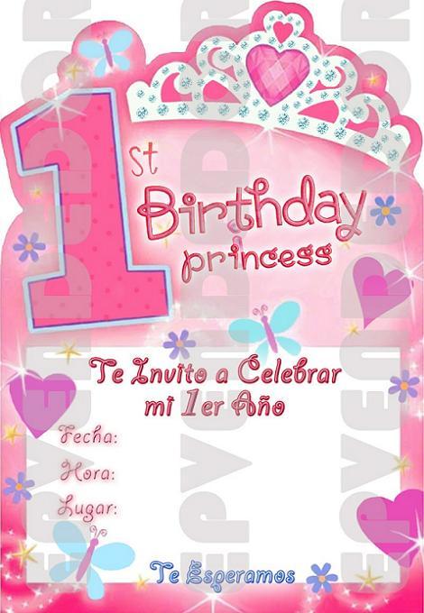 Fiesta Princesas Invitación