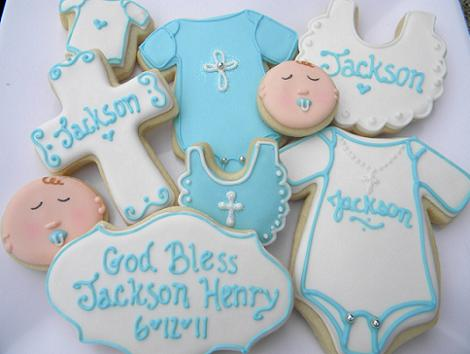 Galletas de bautizo para niño