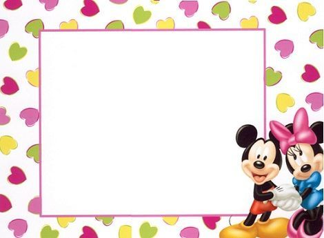 invitaciones cumpleanos mickey mouse  minnie