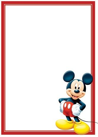 invitaciones cumpleanos mickey mouse vertical