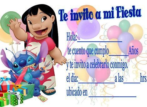 invitacion de fiesta infantil