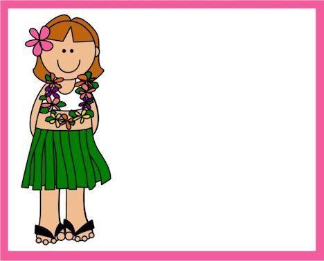 invitaciones fiesta hawaiana muneca