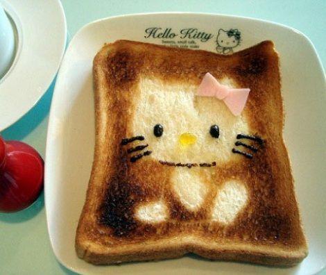 sandwiches dibujos kitty