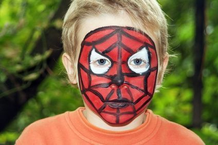 Spiderman maquillaje