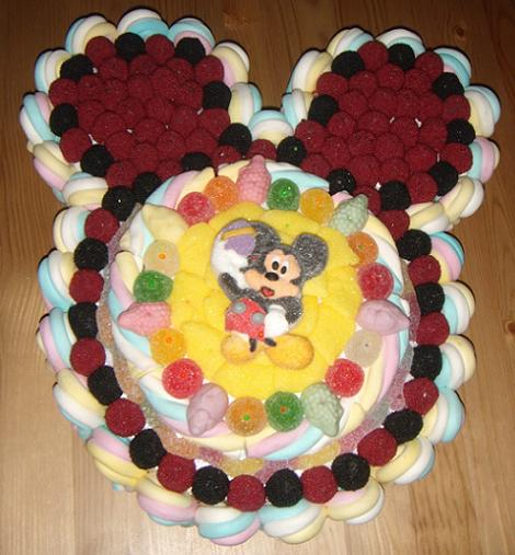 tarta chucheria mickey mouse