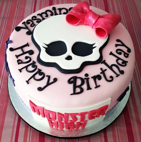 Fiesta Monster High: la tarta