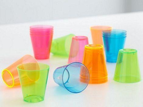 bola de colores esfera vasos