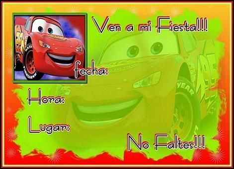 Cars: invitacíon