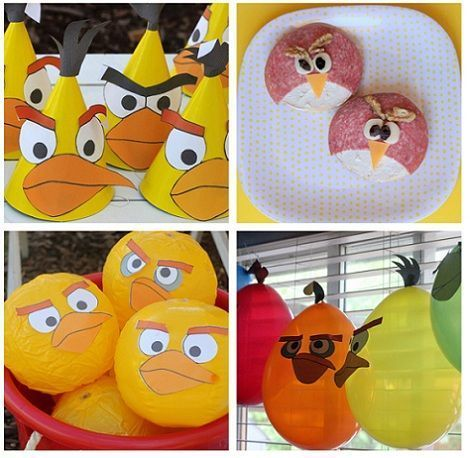 cumpleanos angry birds canapes