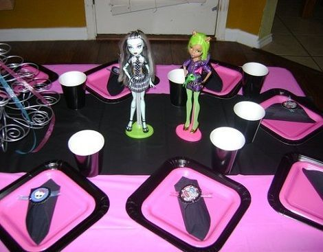 cumpleanos monster high mesa