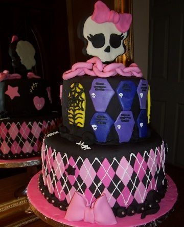 cumpleanos monster high tarta