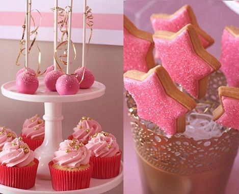 cumpleanos princesas rosa cupcakes