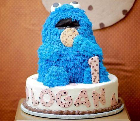 fiesta monstruo galletas tarta