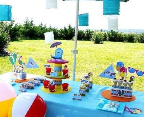 fiesta piscina mesa