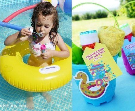 fiesta piscina pompas