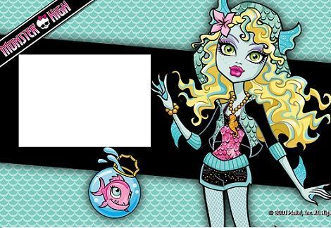 invitacion monster high lagoona blue