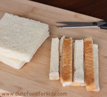 sandwich para ninos cortar