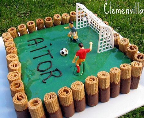 tarta futbol galletas