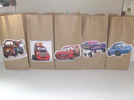 Bolsas de regalo de Cars