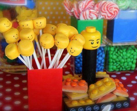 cumpleanos lego cake pops