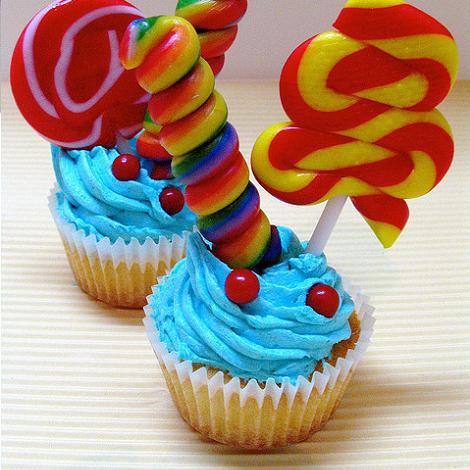 Cupcake con golosinas