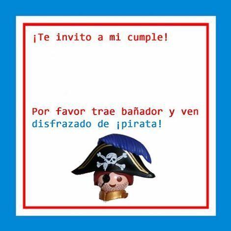 Fiesta pirata: la invitación
