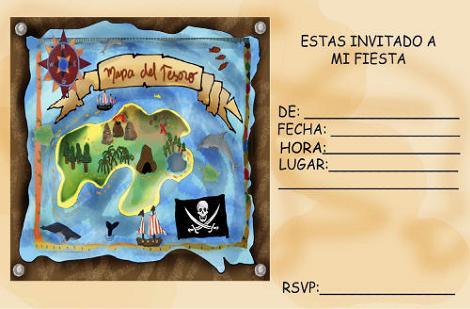 Invitación fiesta pirata