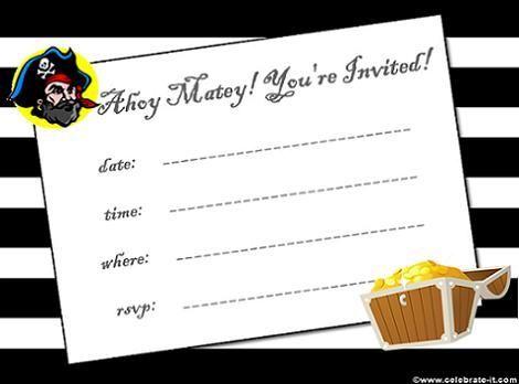 Invitación de piratas