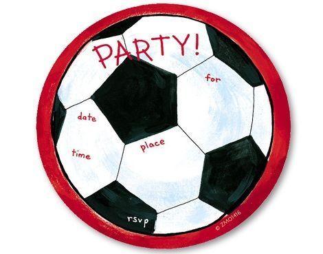 Tarjetas de invitación cumpleaños para imprimir de futbol - Imagui