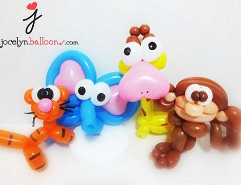 como hacer figuras de animales con globos
