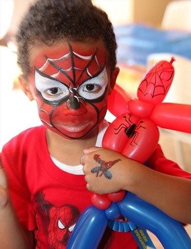 pintacaras de spiderman paso a paso