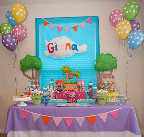 decoración de cumpleaños lalaloopsy