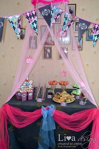 decoracion de cumpleanos de moster high