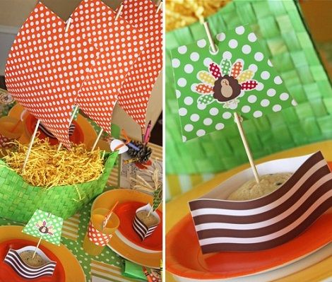 ideas para tus centros de mesa infantiles